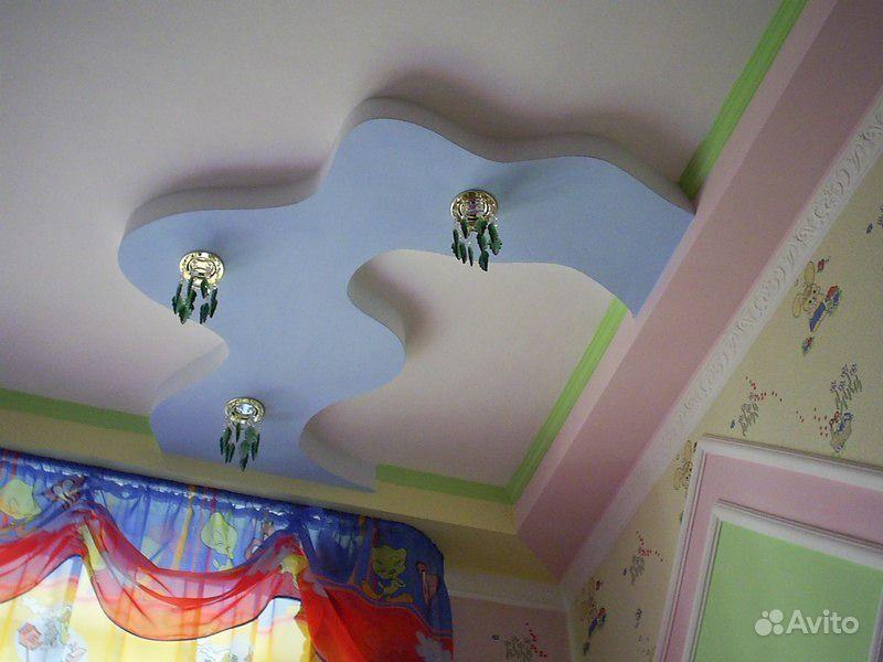 Потолок в комнате своими руками картинки
