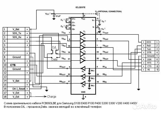 24 схемы распайки кабелей,