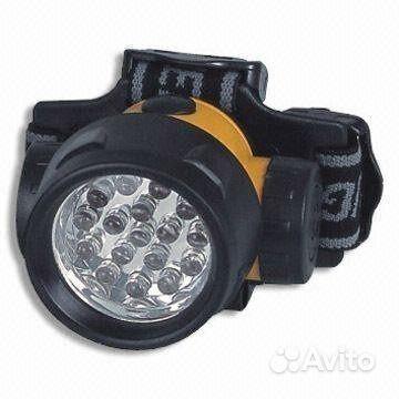 Налобный аккумуляторный светодиодный фонарь Headlight 19 led's Нажмите