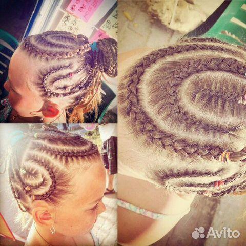Плетенные косички афро