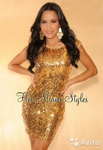 Платья золотые паетки