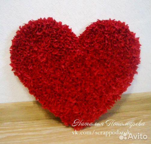 Сердце из картона и салфеток своими руками