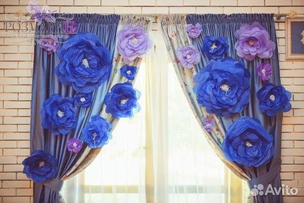 Свадьба своими руками цветы из гофрированной бумаги