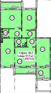 Офисное помещение, 97.75 м² объявление продам