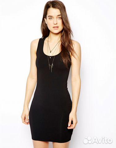 90d1793926f141d Облегающее платье-майка ASOS (черное или белое)— фотография №1