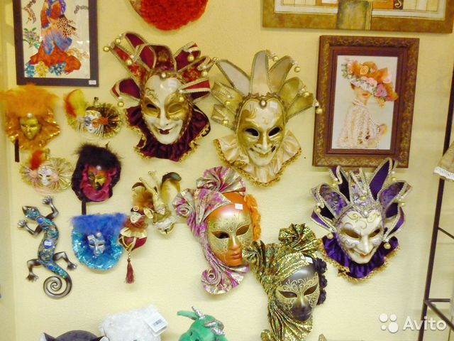 Карнавальные маски. Венецианские маски. Украшения купить в ... - photo#10