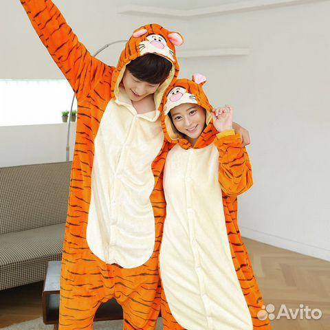 Кигуруми ростовой костюм Тигр  c9403313a6079