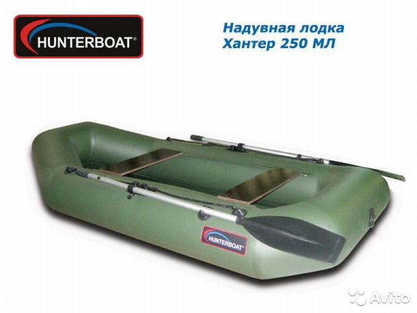 лодка резиновая хантер 240