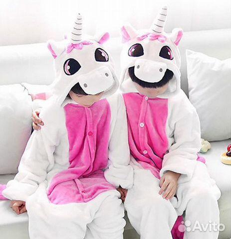 Пижама кигуруми единорог розовый дет купить в Москве на Avito ... cbe56800c7756