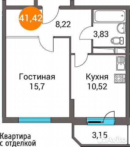 Продается однокомнатная квартира за 3 293 794 рублей. посёлок городского типа Зеленоградский, Пушкинский район, Московская область, улица Зелёный Город, 3.