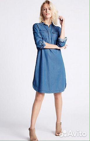 880beb33956 Джинсовое платье платье для беременных купить в Москве на Avito ...
