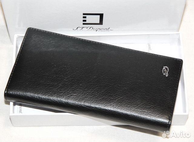 1819f116c867 Мужской кожаный кошелек купюрник Dupont black   Festima.Ru ...
