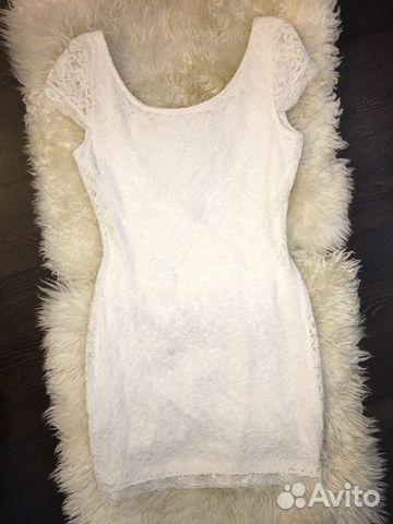7383b80ab52 Мини белое платье кружевное