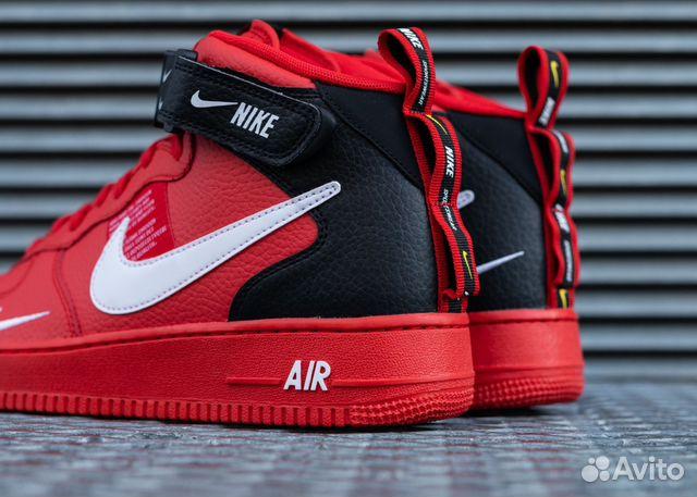 10204e4c Мужские Nike Air Force 1 Mid Red купить в Москве на Avito ...