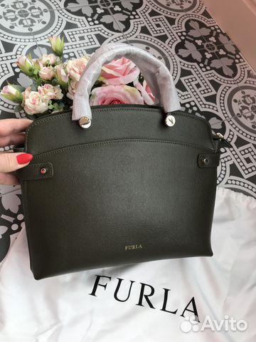 f602ded9ec3c Furla Agata зеленая новая оригинал - Личные вещи, Одежда, обувь, аксессуары  - ...
