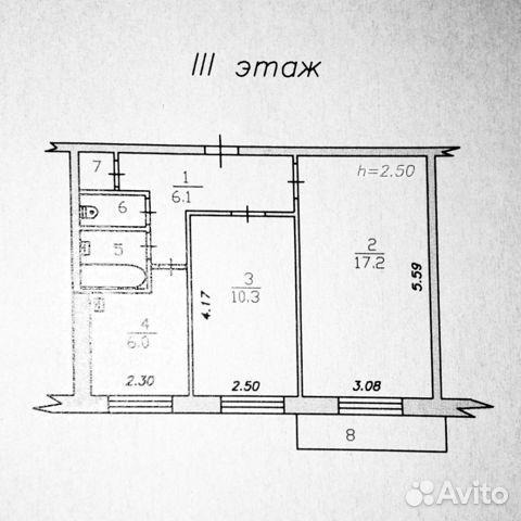 2-к квартира, 44 м², 3/5 эт. купить 1