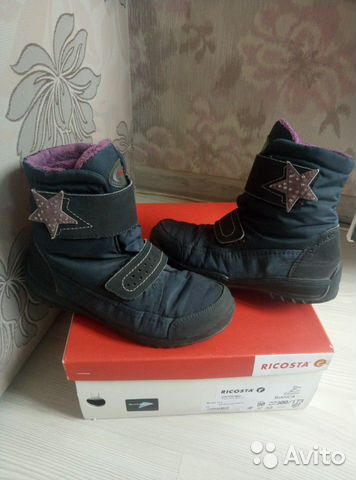 Ботинки ricosta р32.21.5см.осень-зима.площадь