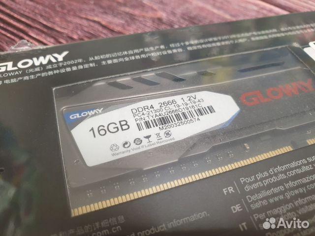 Новая Оперативная память glowy DDR4 16 GB 2666 GHZ купить 2