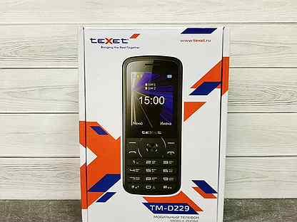 Новый телефон teXet TM-D229 / Акб 3000 мАч