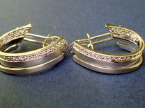Золотые серьги с бриллиантами Luca Carati