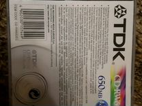 Болванка CD-RW 650 MB, TDK, новый