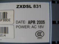 Adsl модем ZTE zxdsl 831