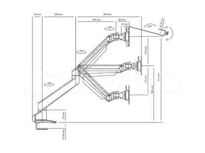 Кронштейн для монитора настольный ABC Mount ProSolution-K2 Диагональ экрана (см): 38-81 Нагрузка (кг):10