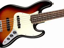 Гитара fender AM PRO jazz bass V RW 3TS, новая