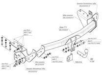 Фаркоп Bosal toyota RAV 4 (без электрики) 3084-A