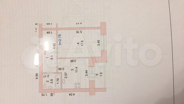 1-к квартира, 42 м², 3/9 эт.  89877094229 купить 2