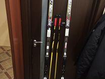Беговые Лыжи, классика, solomon, палки лыжные exel