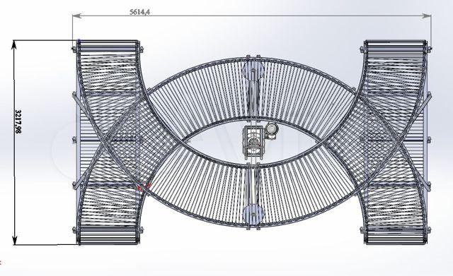 Поворотный транспортер на 180 градусов комплектующие рольганга