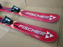 Детские горные лыжи 100 см с ботинками 19.0
