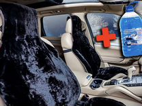 Меховые накидки на сиденья авто +Незамерзайка 5 л — Запчасти и аксессуары в Саратове
