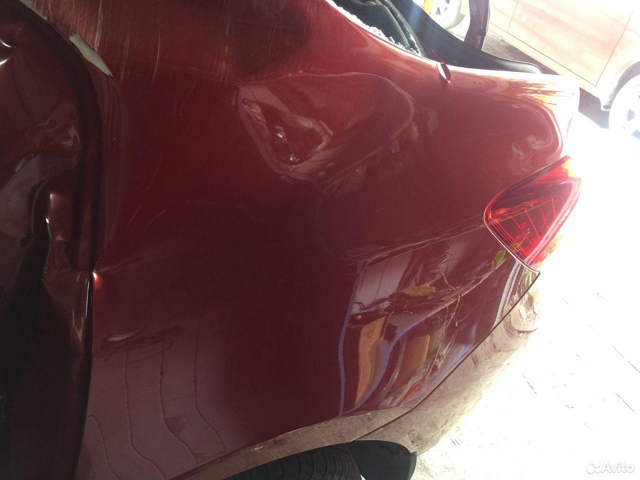 Рено Логан 2 задние левое крыло с дефектом